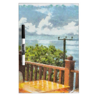 Dining with a view of lake Dry-Erase board