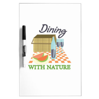 Dining With Nature Dry-Erase Board
