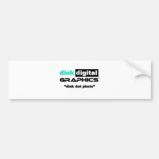 Dink Digital Graphics Bumper Sticker