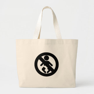 DINK Spawn Free No Baby Jumbo Tote Bag