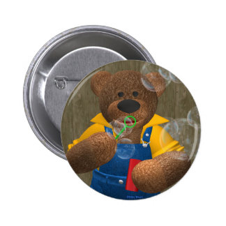 Dinky Bear: Blowing Bubbles Button