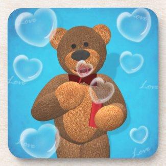 Dinky Bear Blowing Heart Bubbles