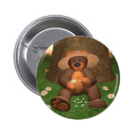Dinky Bear in Love 2 Inch Round Button