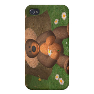 Dinky Bear in Love iPhone 4 Covers