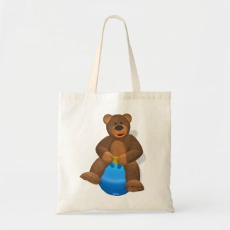 Dinky Bear on Hop Ball bag