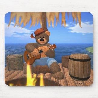 Dinky Bear on Raft