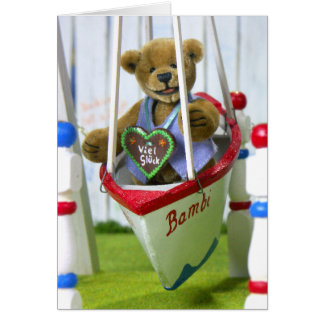 Dinky Bear on Swingboat Card