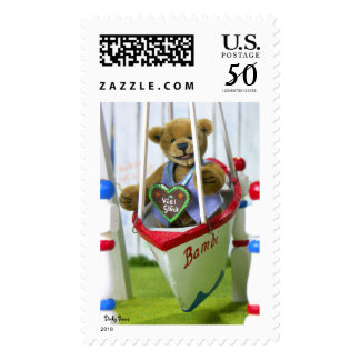 Dinky Bear on Swingboat Postage