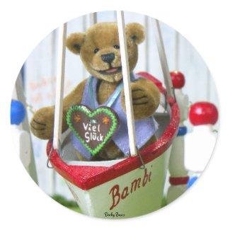 Dinky Bear on Swingboat