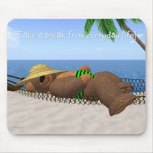 Dinky Bear: Summer Feelings Mouse Pad