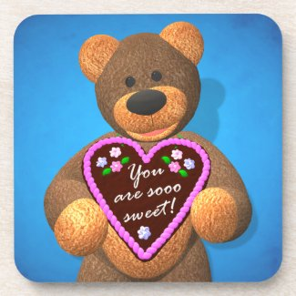 Dinky Bear with Gingerbread Heart 2