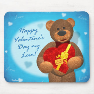 Dinky Bear with Heart Box Mouse Pad