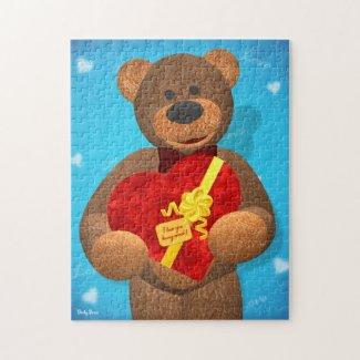 Dinky Bear with Heart Box