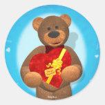 Dinky Bear with Heart Box Sticker