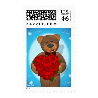 Dinky Bear with Heart of Roses