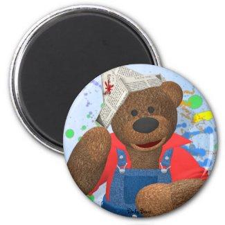 Dinky Bear mit Zeitungshaut