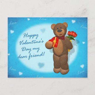 Dinky Bear with Roses & Heart