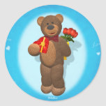 Dinky Bear with Roses & Heart Sticker