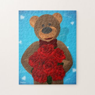 Dinky Bear with Roses