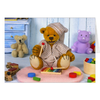 Dinky Bear with Xylophone Card
