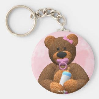 Dinky Bears Baby Girl Keychain