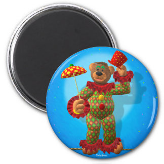Dinky Bears balancing Clown 2 Inch Round Magnet