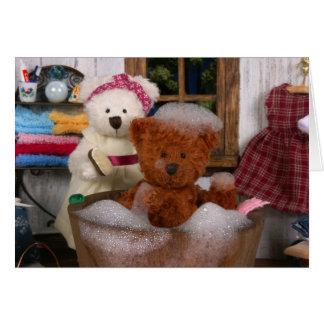 Dinky Bears: Bath Day Card
