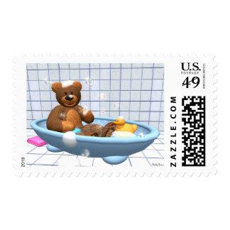 Dinky Bears: Bathing Fun Postage