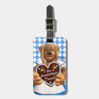 Dinky Bears Bavarian Cuddle Bear 2 Bag Tag