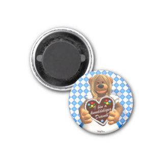 Dinky Bears Bavarian Cuddle Bear 2 1 Inch Round Magnet