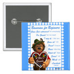 Dinky Bears Bavarian for Beginners 2 Inch Square Button
