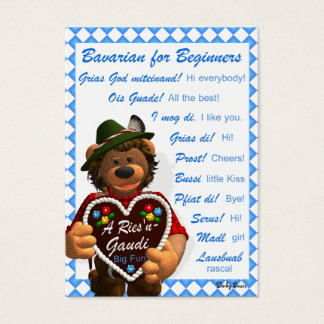Dinky Bears Bavarian for Beginners Business Card