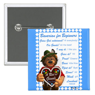 Dinky Bears Bavarian for Beginners Button