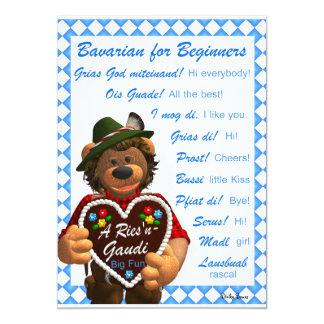 Dinky Bears Bavarian for Beginners Card
