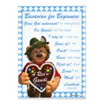 Dinky Bears Bavarian for Beginners 5x7 Paper Invitation Card