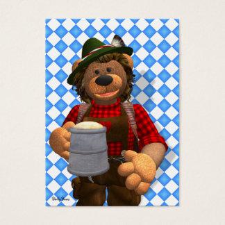 Dinky Bears Bavarian Oktoberfest Bear Business Card