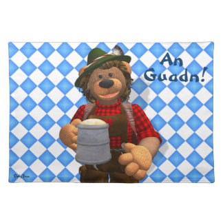 Dinky Bears Bavarian Oktoberfest Bear Cloth Placemat
