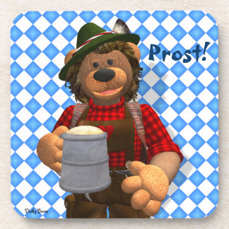 Dinky Bears Bavarian Oktoberfest Bear Drink Coaster