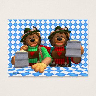 Dinky Bears Bavarian Oktoberfest Bears Business Card