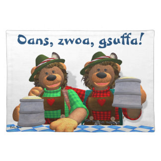 Dinky Bears Bavarian Oktoberfest Bears Cloth Placemat