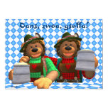 Dinky Bears Bavarian Oktoberfest Bears 5x7 Paper Invitation Card