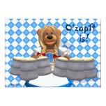 Dinky Bears Bavarian Oktoberfest Zenzi Card