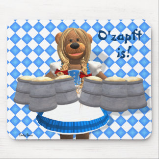 Dinky Bears Bavarian Oktoberfest Zenzi Mouse Pad