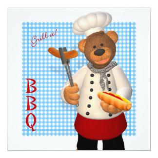 Dinky Bears BBQ Chef Card