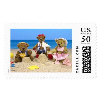 Dinky Bears Beach Fun Postage
