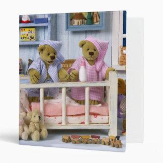 Dinky Bears Bedtime 3 Ring Binder