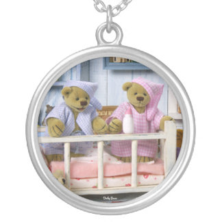 Dinky Bears Bedtime Silver Plated Necklace