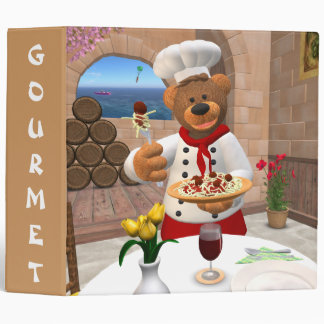 Dinky Bears Chef: Spaghetti with Meatballs Binder