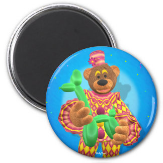 Dinky Bears Clown Modelling Balloon Animals 2 Inch Round Magnet