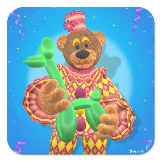 Dinky Bears Clown Modelling Balloon Animals sticker